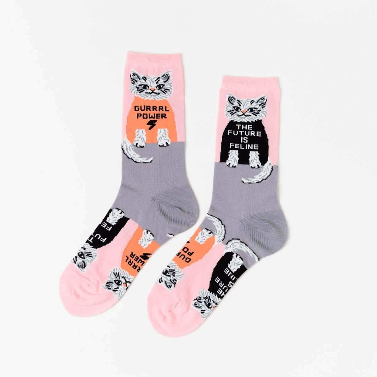 The Future is Feline Socks