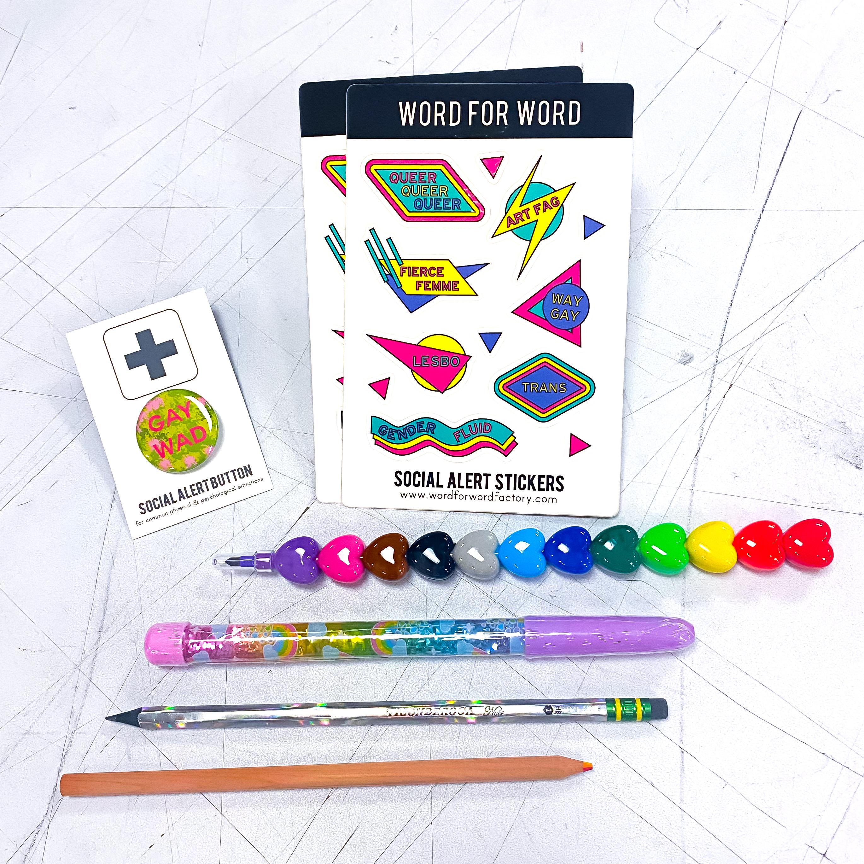 Stickers Pins & Pens Pride Kit! (Part II)