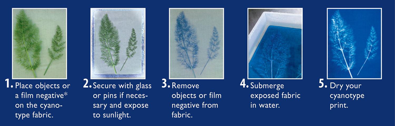 Cyanotype Fabric Kit