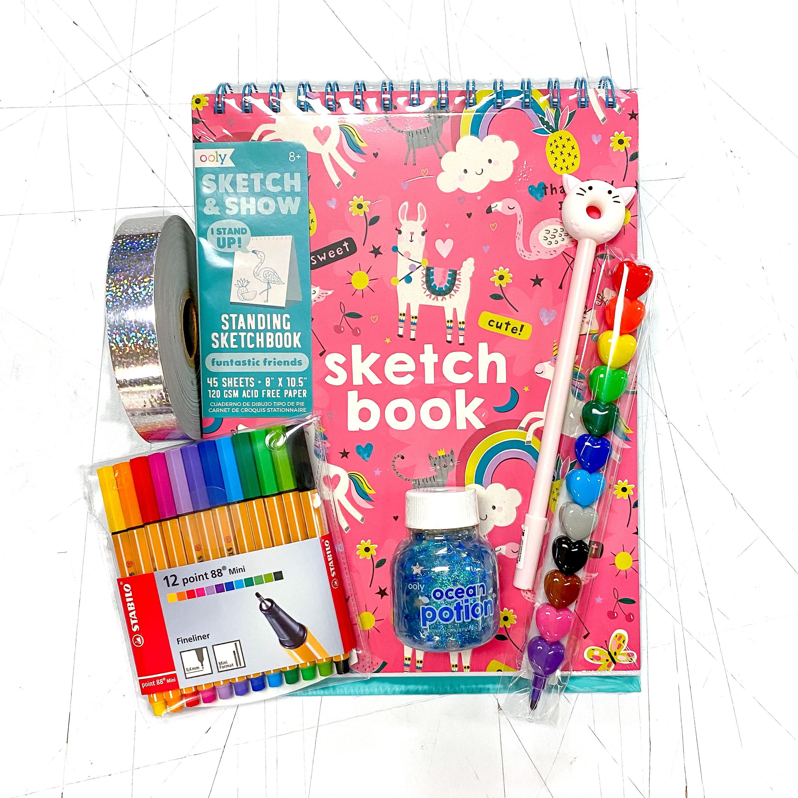 Llama Rainbow Sketch Doodle Kit