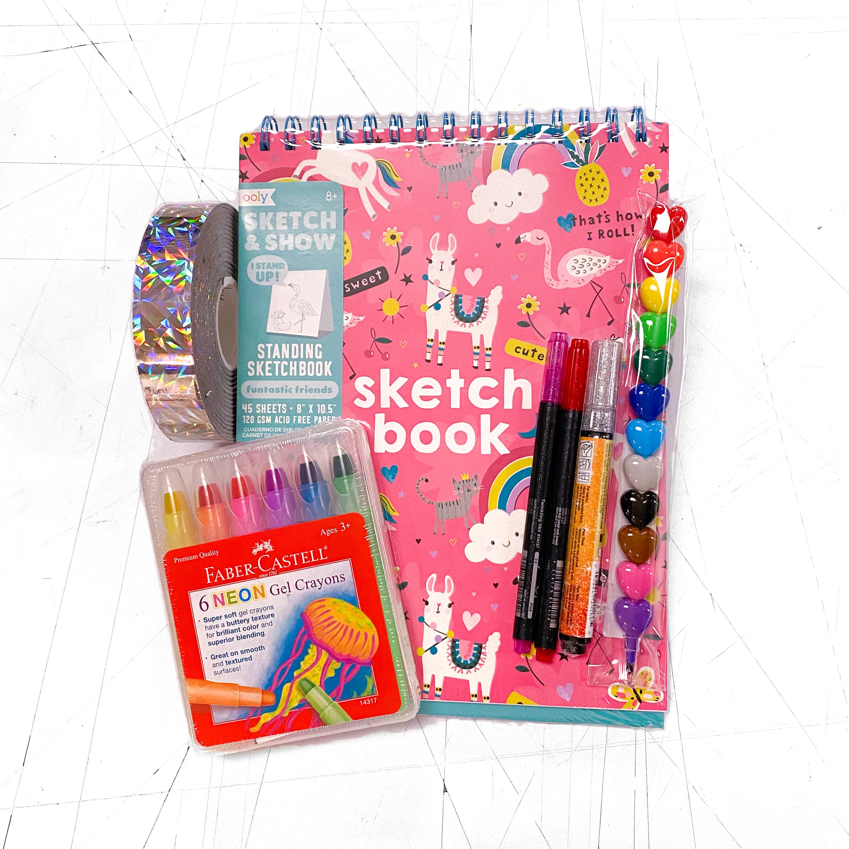 Rainbow Heart Llama Fun Drawing Kit