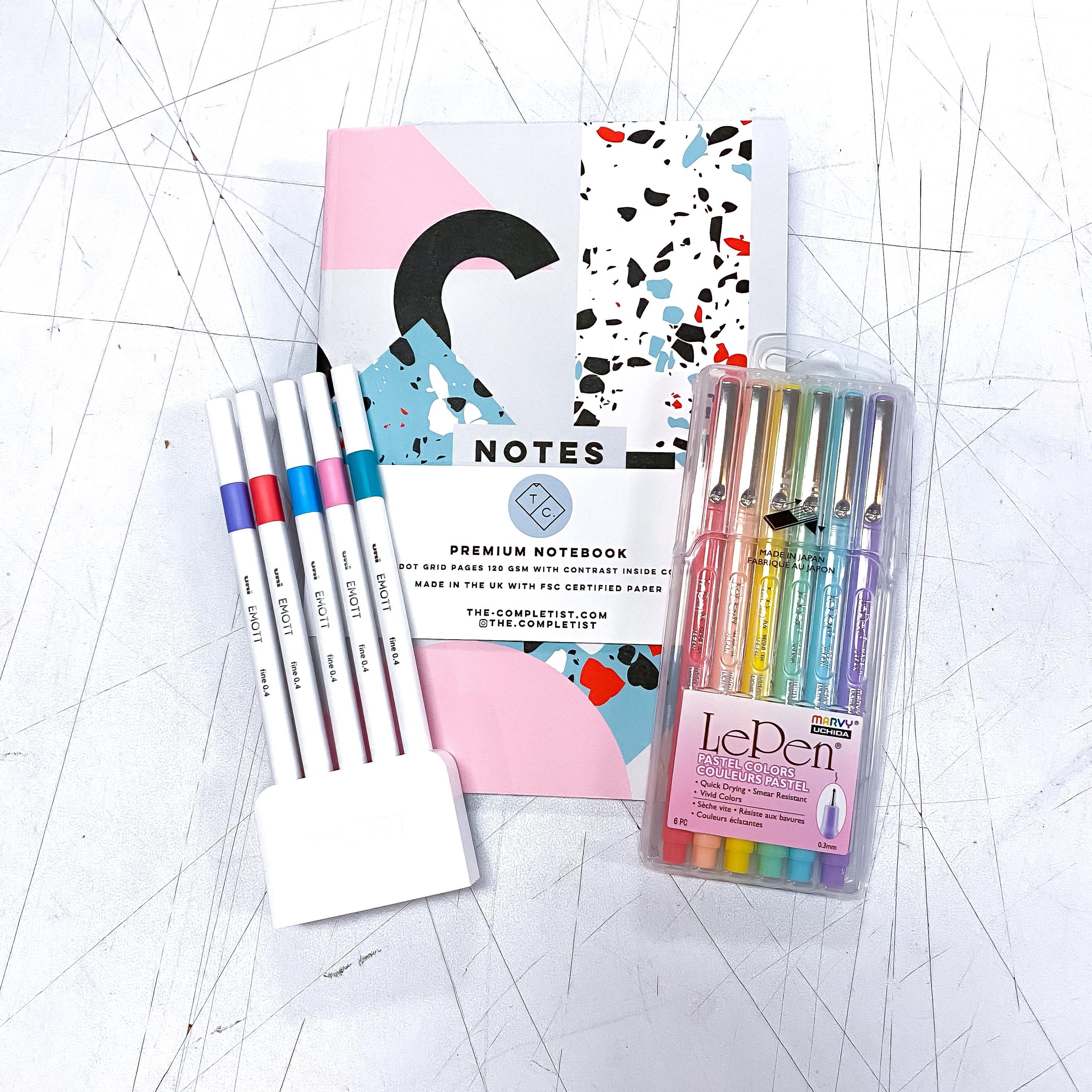 Pastel Dream Dot Grid Notebook Kit