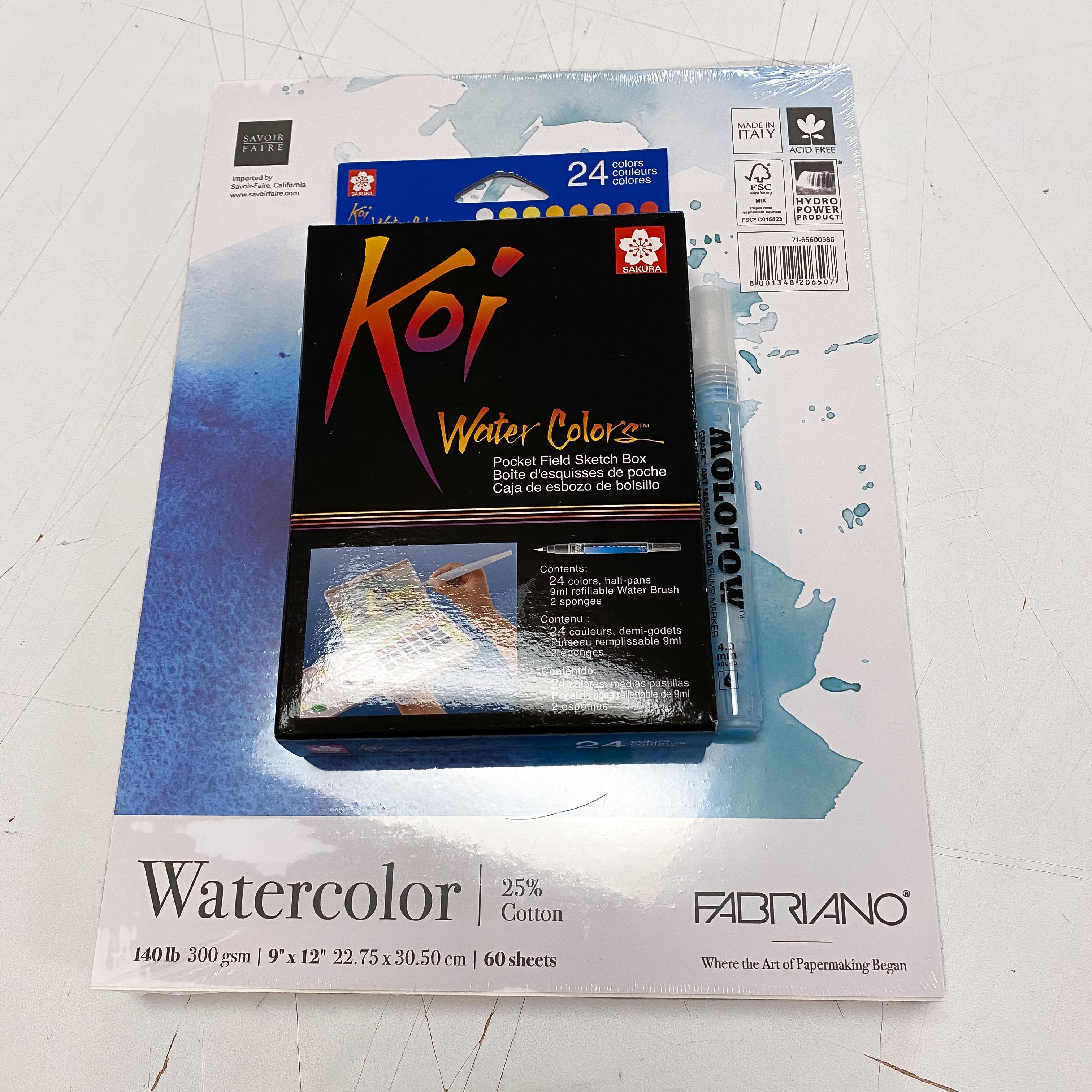 Watercolor 24 Color Kit