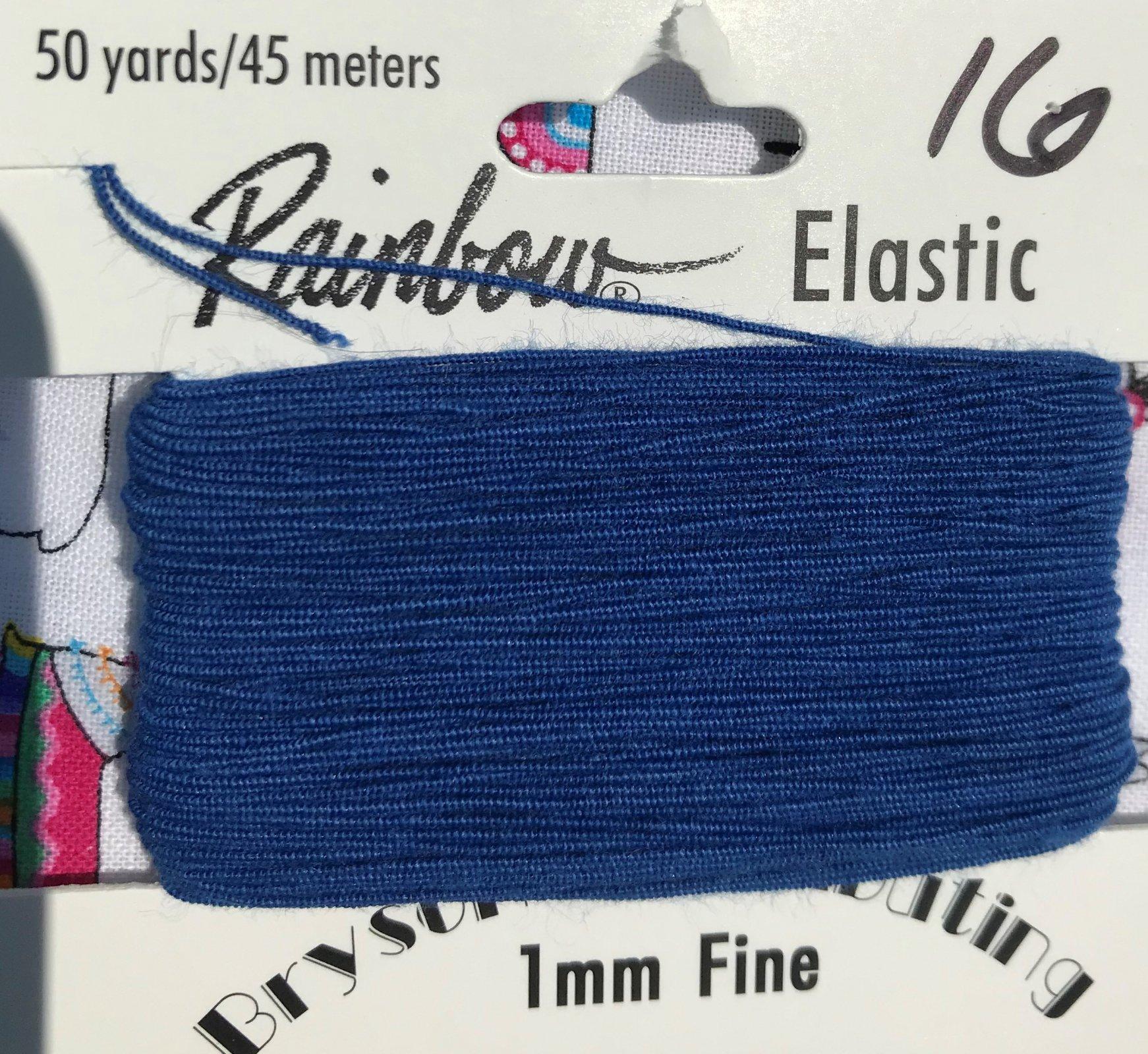 Royal Blue, 1mm Fine-50y Elastic