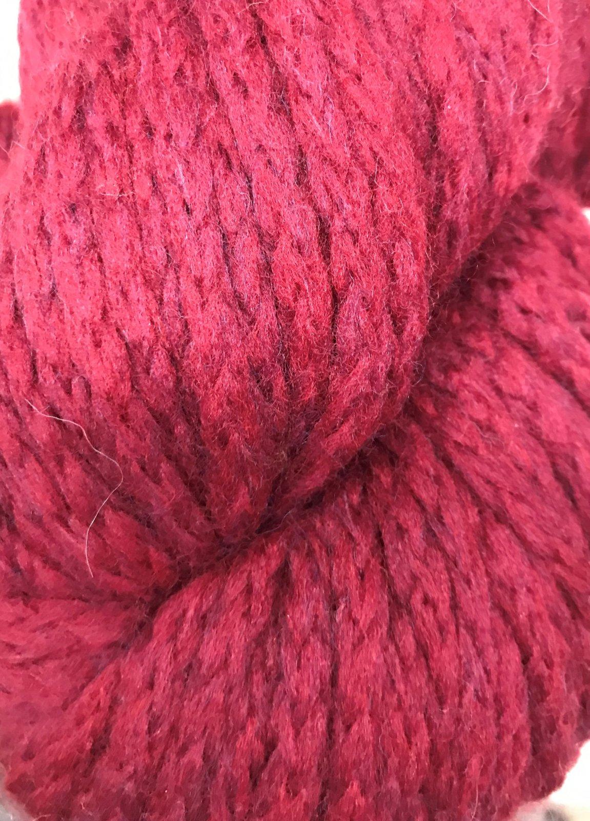 Crimson 1708 Mirasol Ushya 98/2 wool/poly 114y, 2.25sts=1on #15US