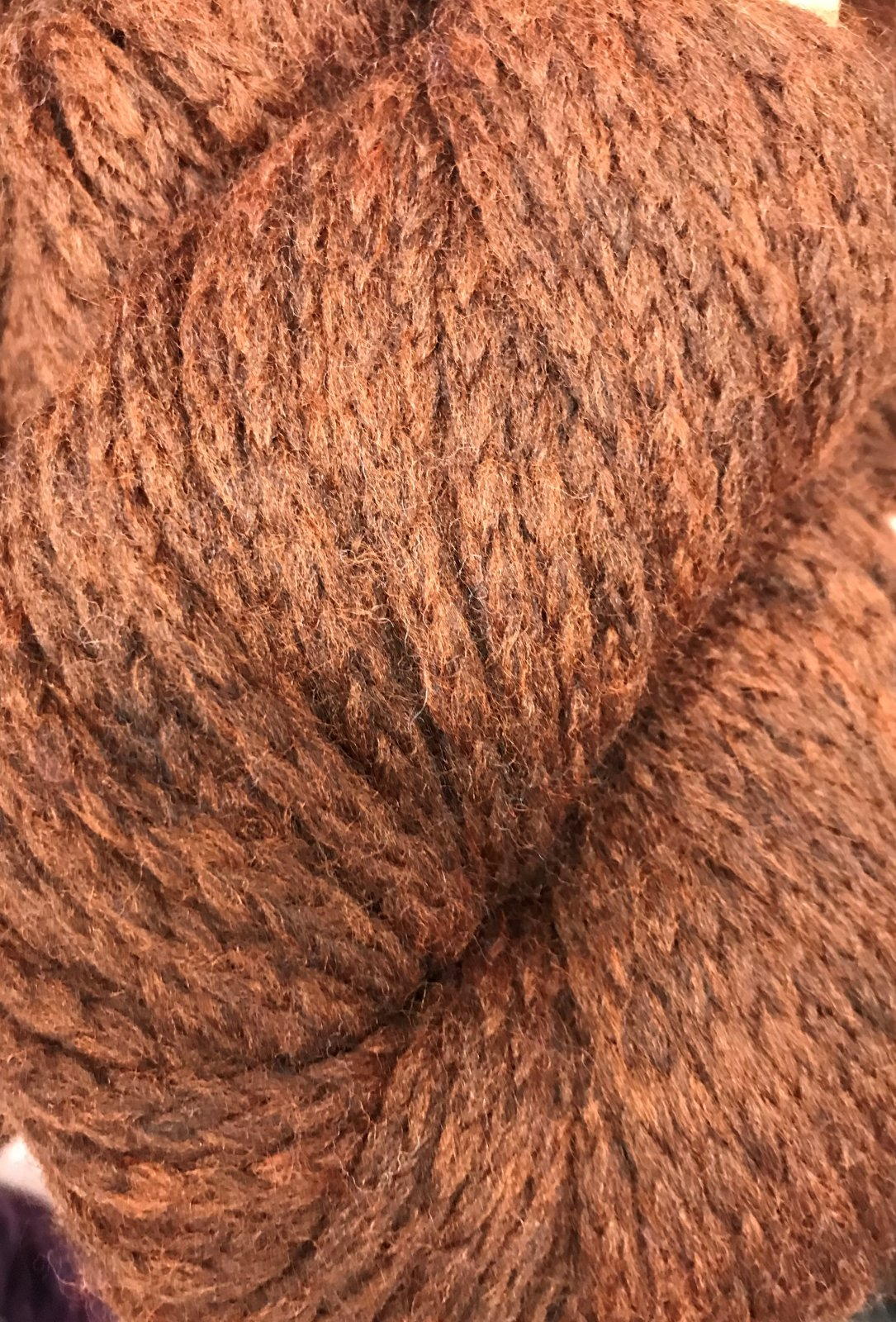 Fudge Brownie 1737 Mirasol Ushya 98/2 wool/poly 114y, 2.25sts=1on #15US