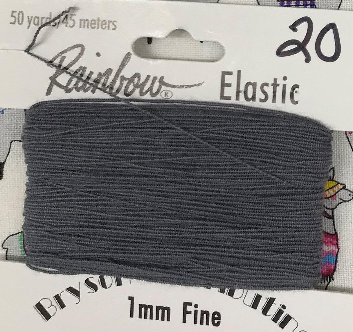 Smoke, 1mm Fine-50y Elastic