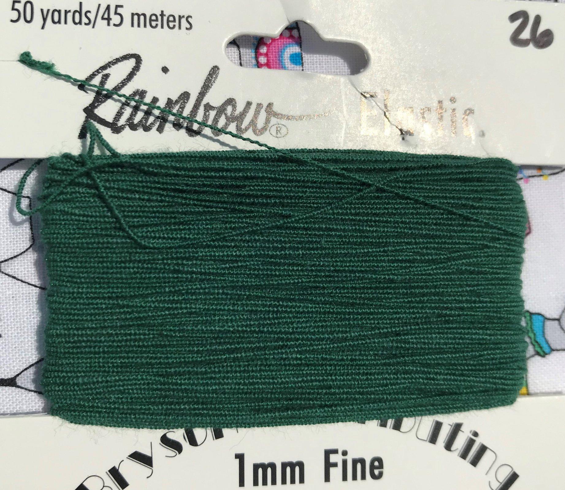Deep Evergreen, 1mm Fine-50y Elastic