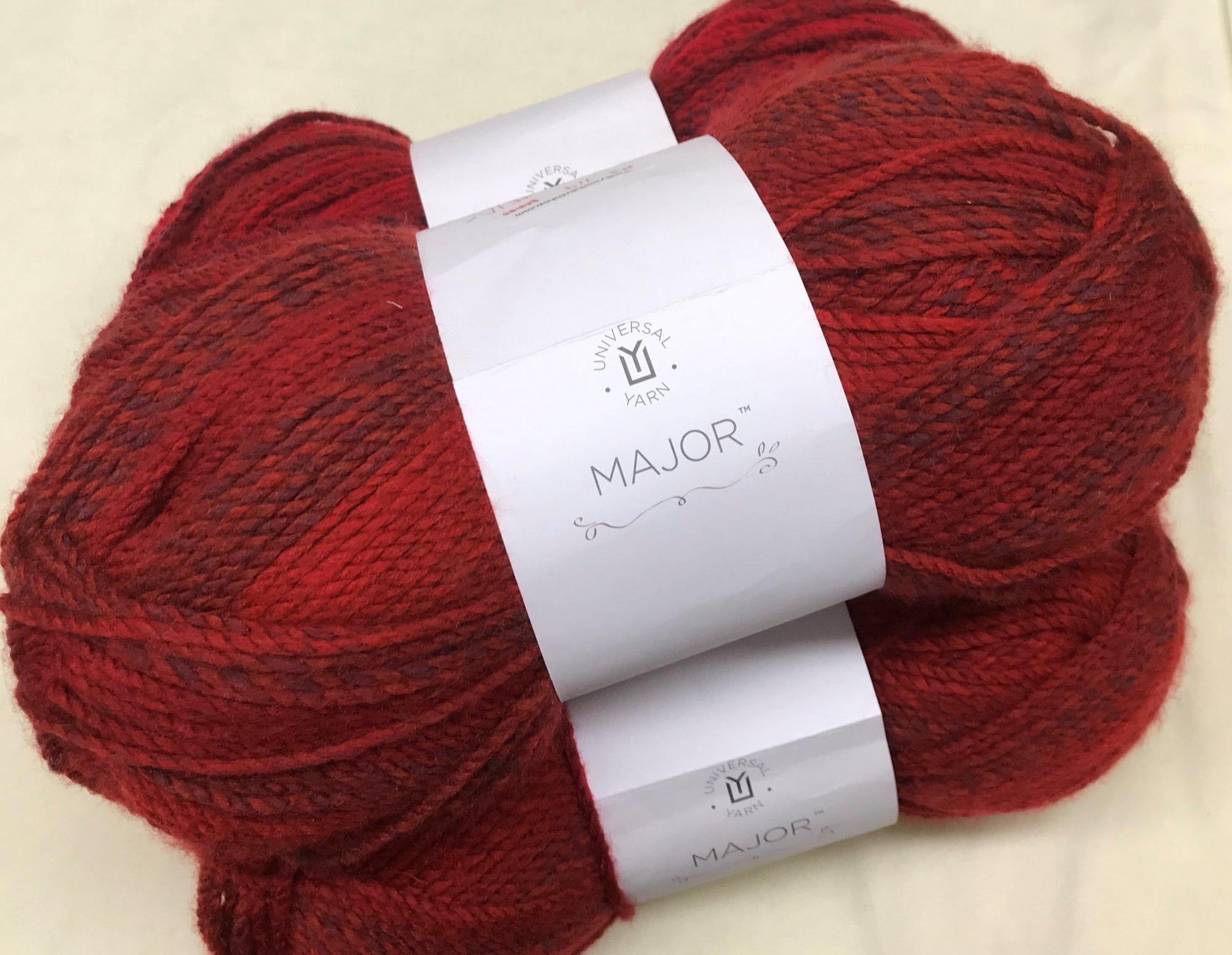 Crimson 119, Major Bulky 100% Soft Acrylic, 328yds 6mm Hook or Needle