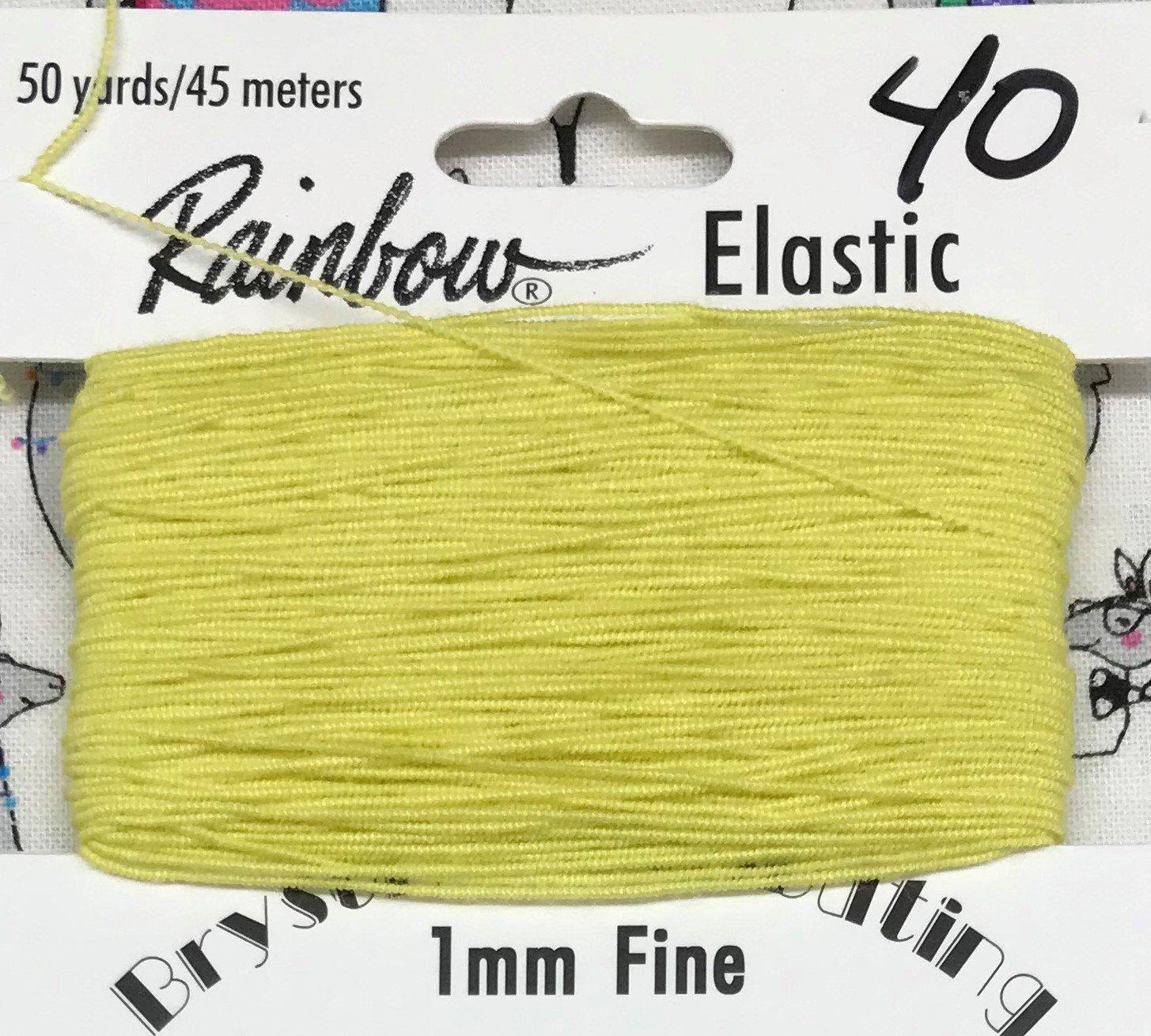 Lemon, 1mm Fine-50y Elastic