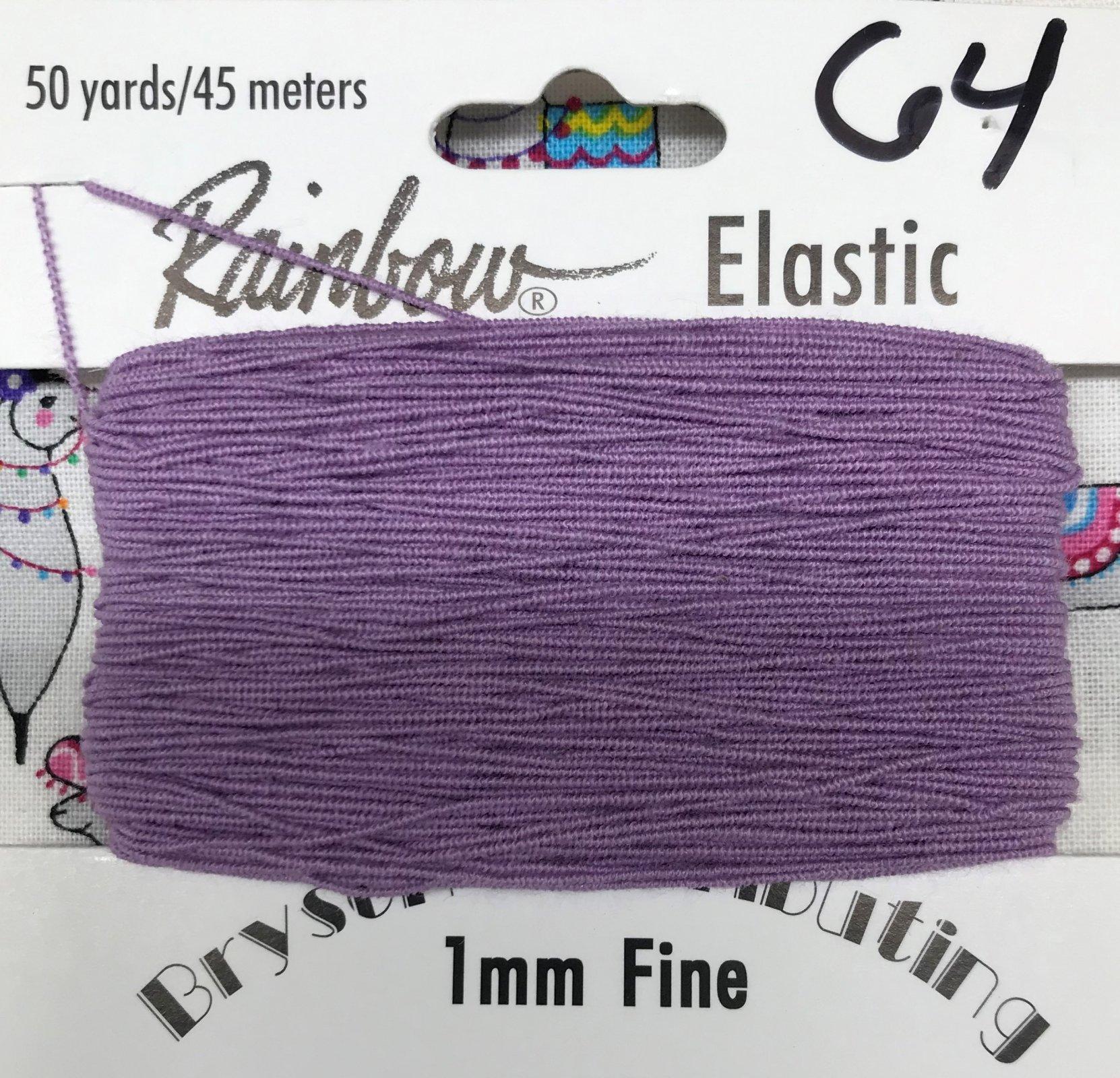 Violet, 1mm Fine-50y Elastic