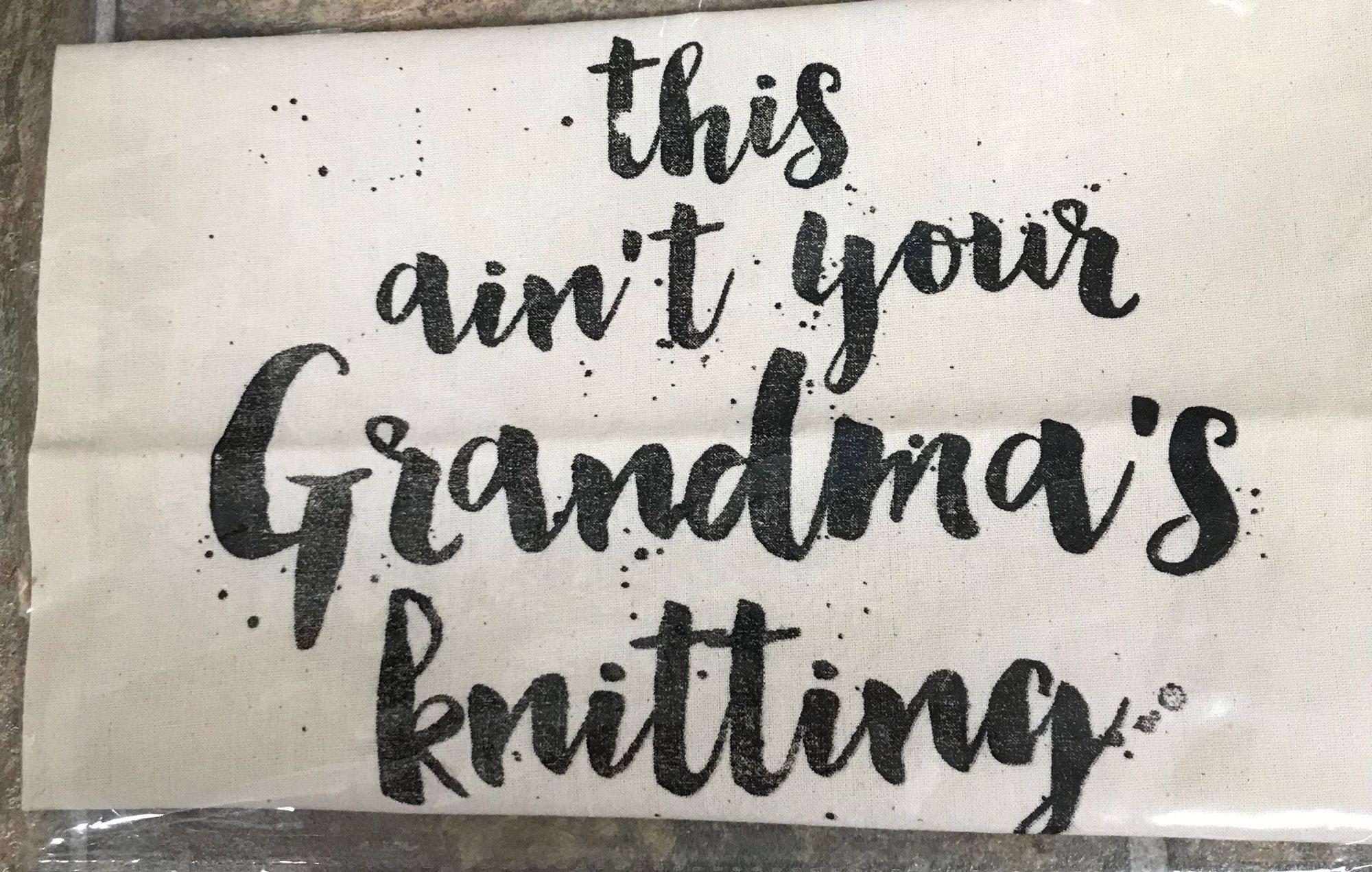 Grandma's Project Bag, Light Canvas