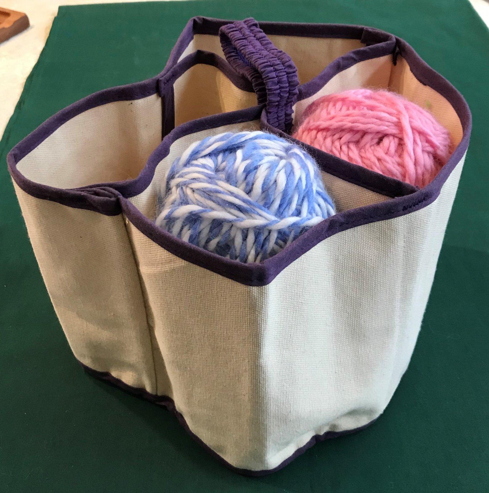 Knitting Nest with 5 Large Yarn Pockets
