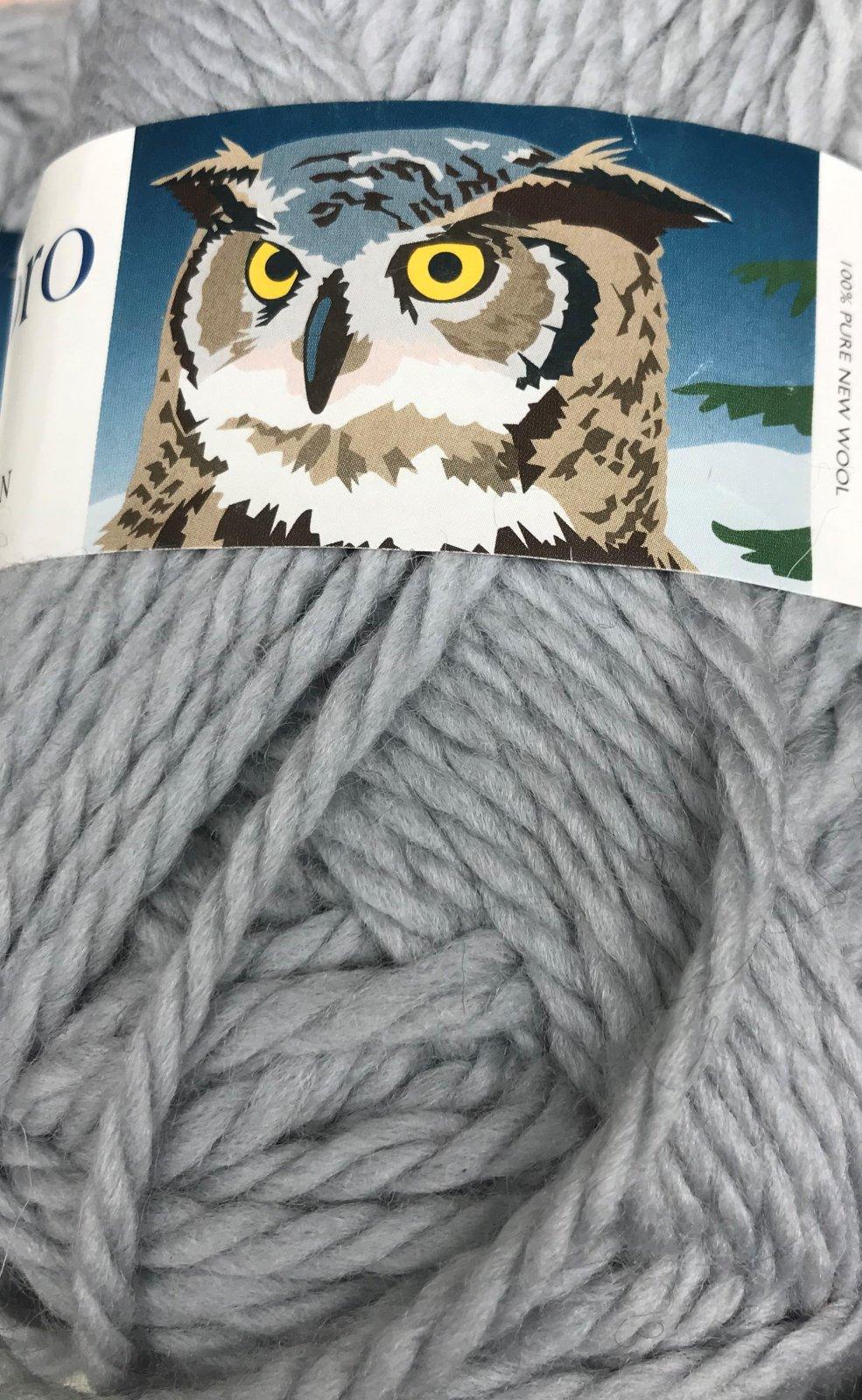 Grey 5630 Hubro Norway 100% wool 72y, 2.5sts=1on #9mm