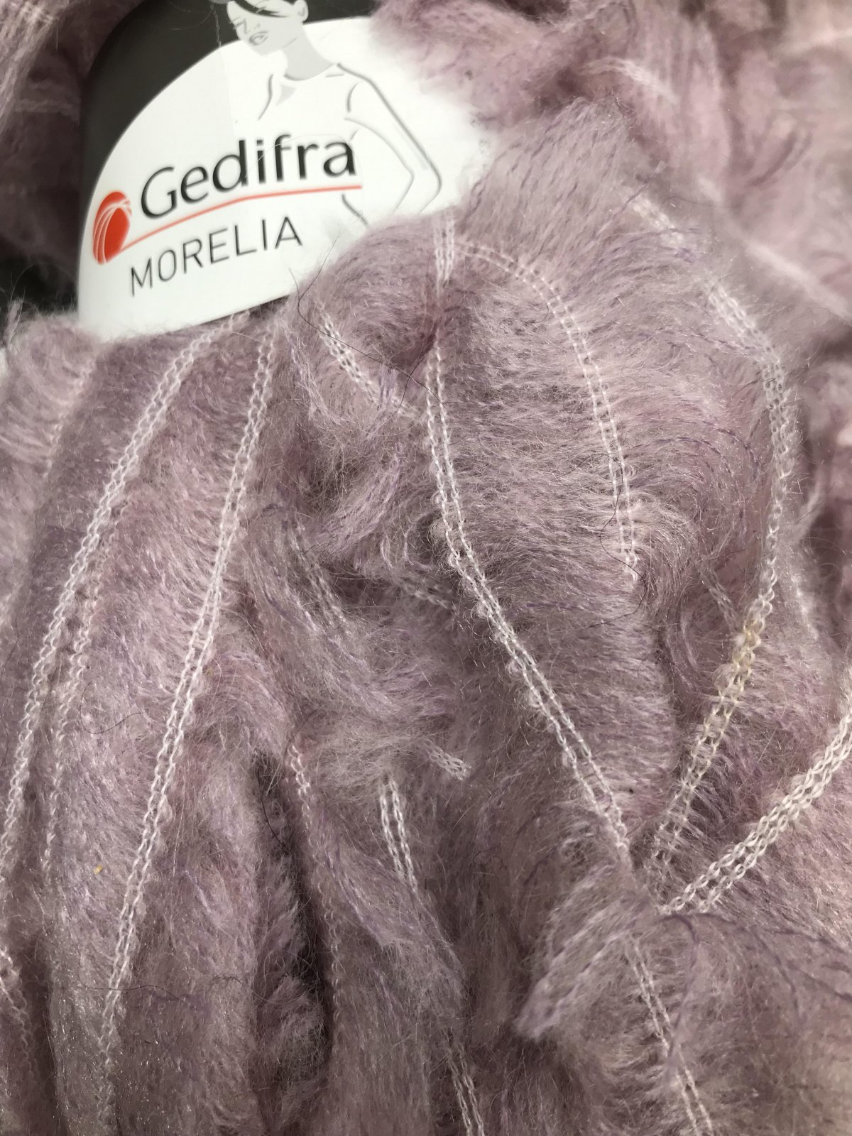 Pink 1457 Gedifra Morelia Ribbon 37/35/28 acryl/poly/mohair 36m #15mm