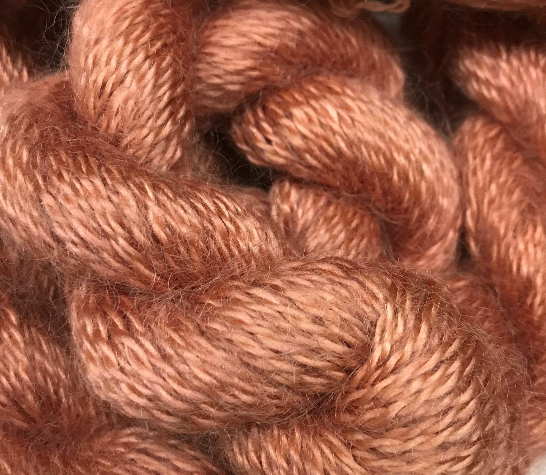 Autumn-Terracotta 100% Australian Goat Mohair 115y, 5.25sts=1 on #4mm