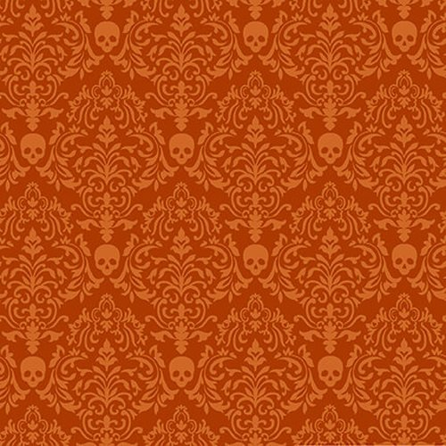 Spooky Night - Spooky Small Damask Orange