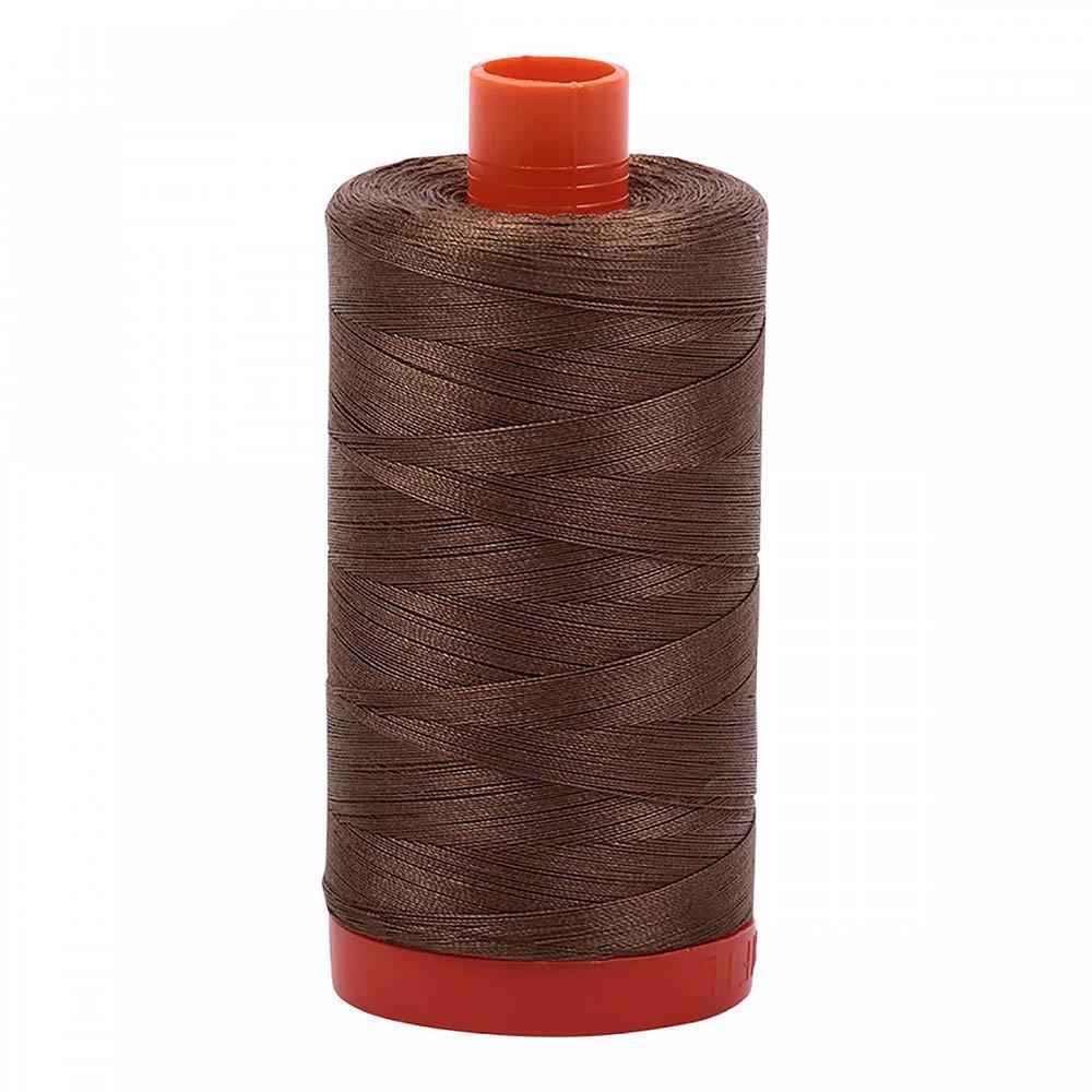 Aurifil Cotton Mako Thread 50wt - Dark Sandstone