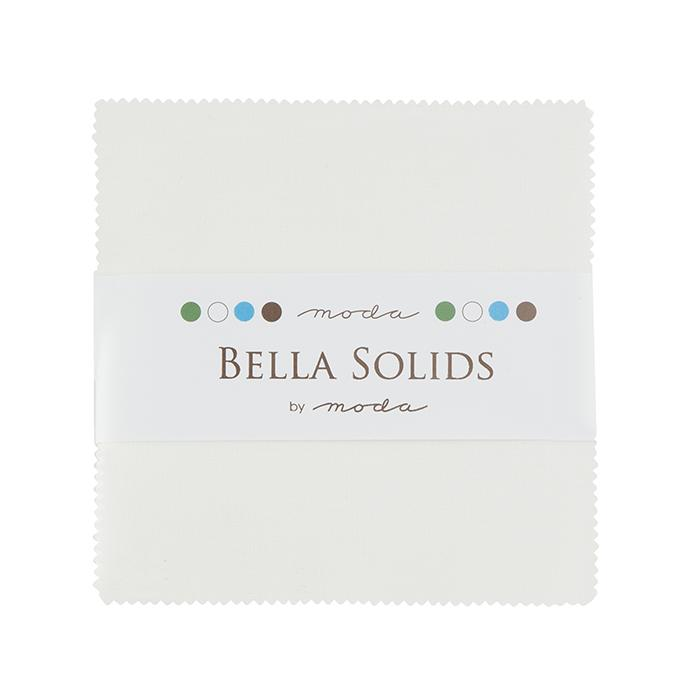 Bella Solids Charm Pack White