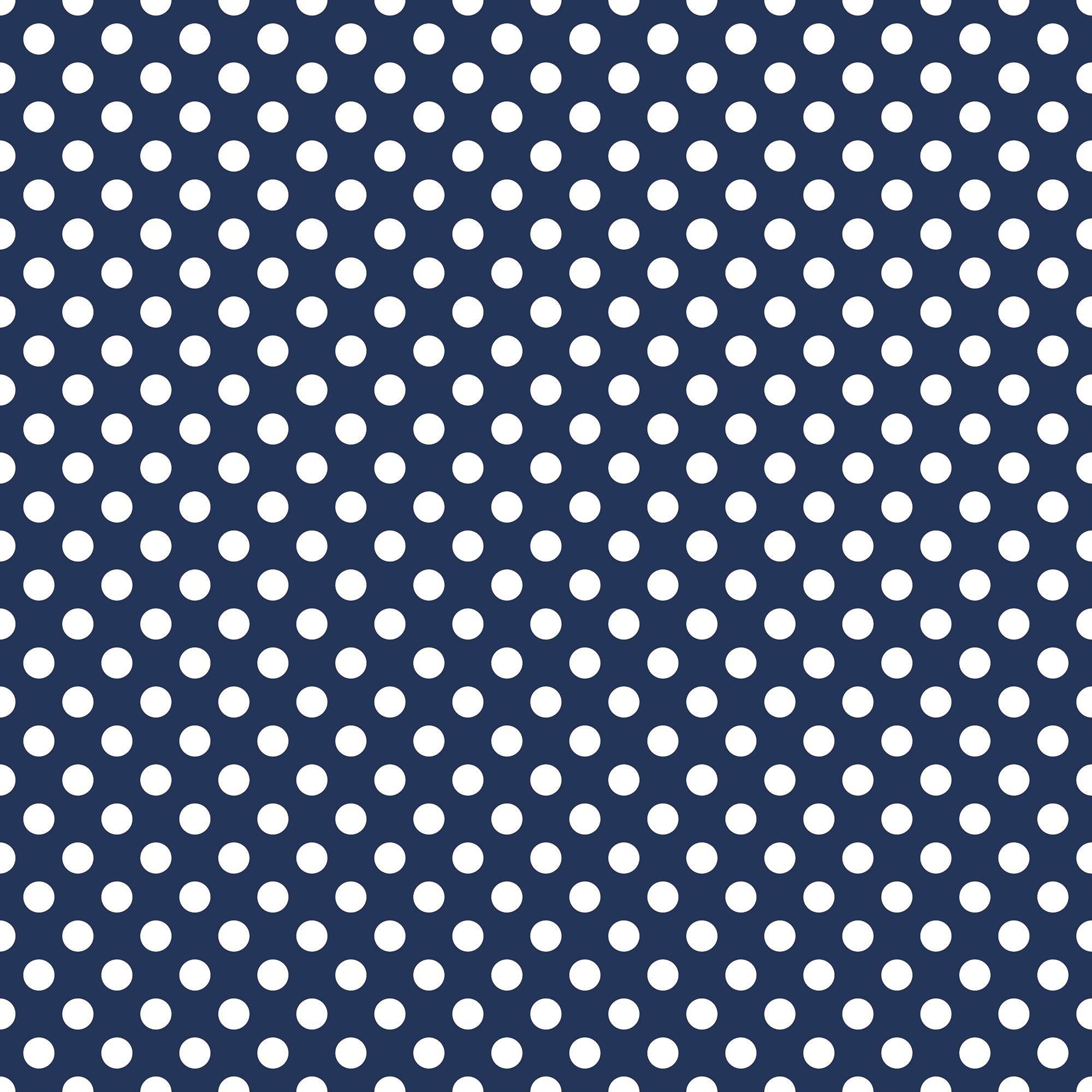 Medium Dots Navy
