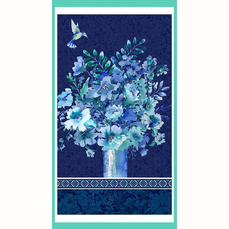 Midnight Sapphire - 24 Panel Vase Bouquet