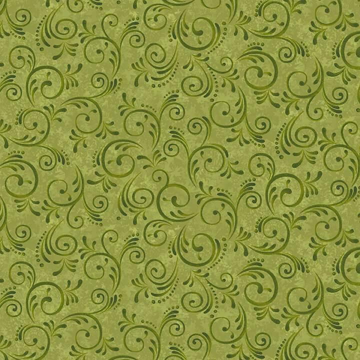 Pumpkin Harvest Swirls Green