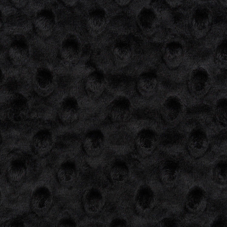 Shannon Cuddle Dimple Minky - Black