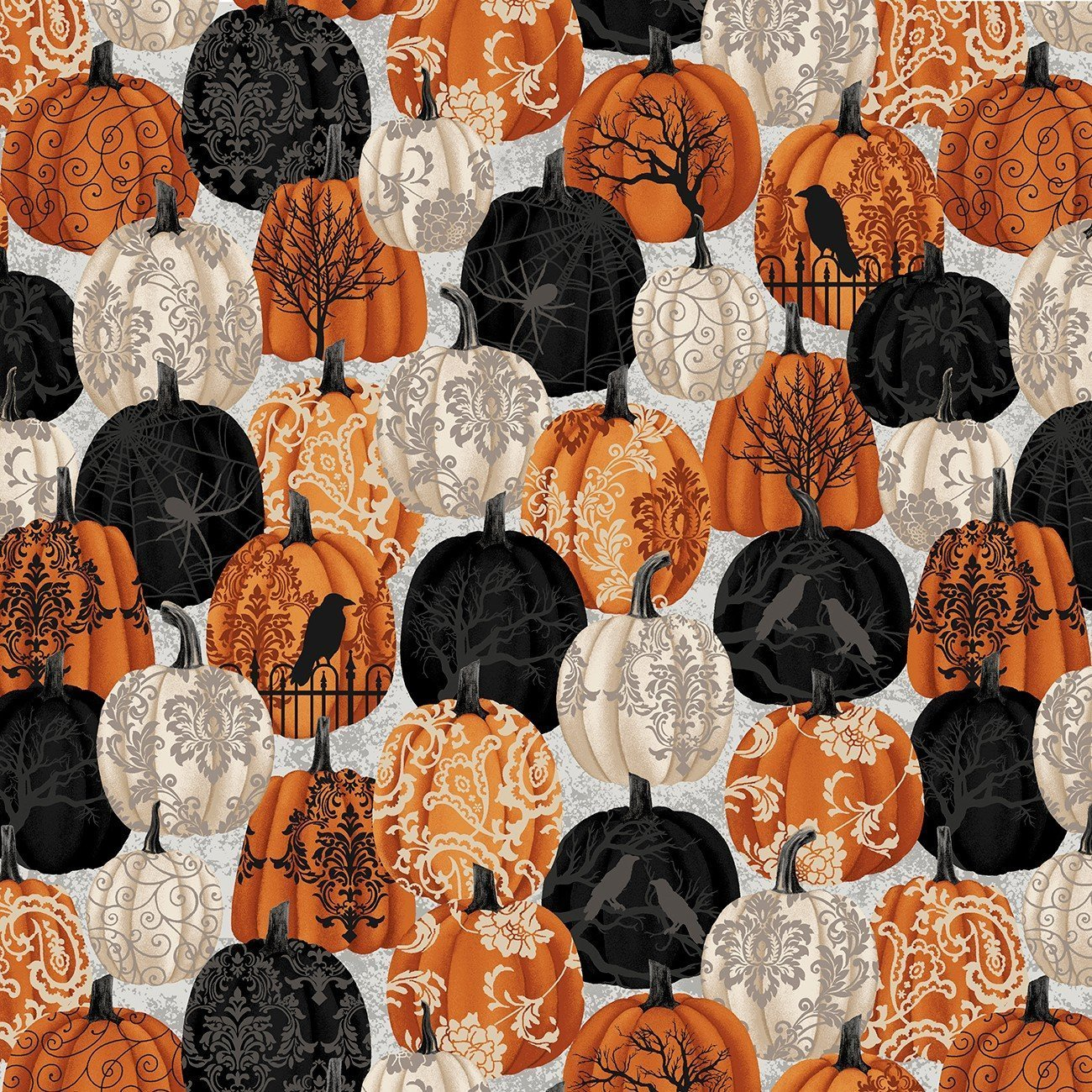 Spooky Night - Damask Pumpkin