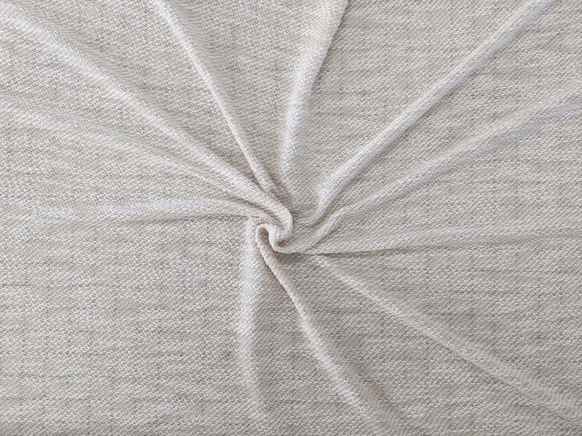 Cotton Knit - Tan/White