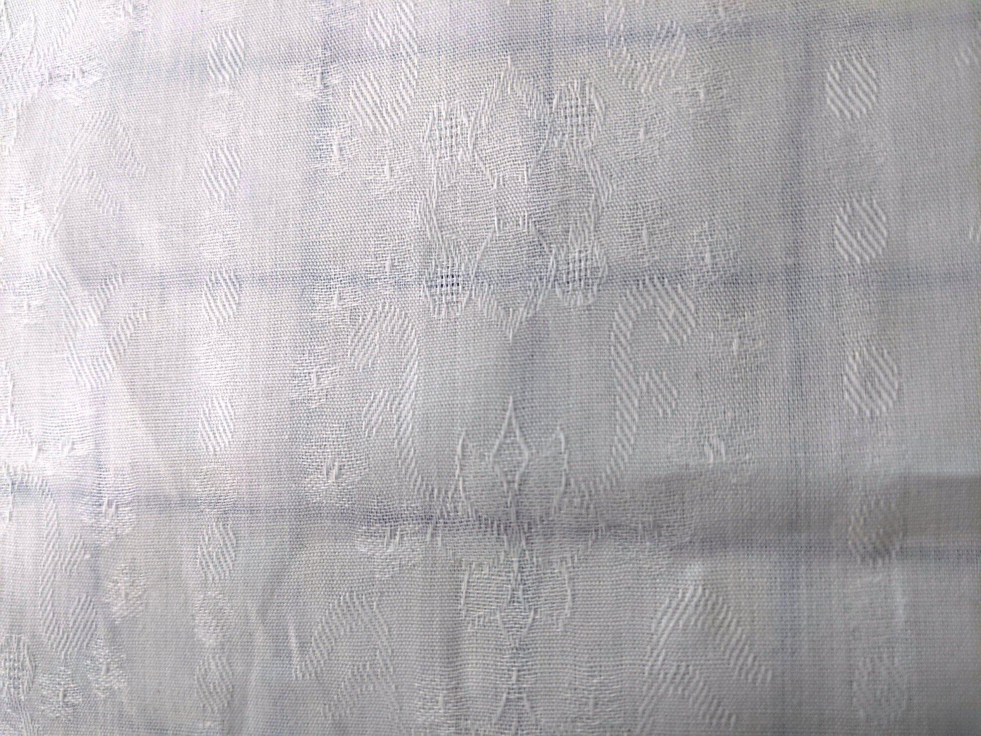 Italian Cotton - White with Pattern