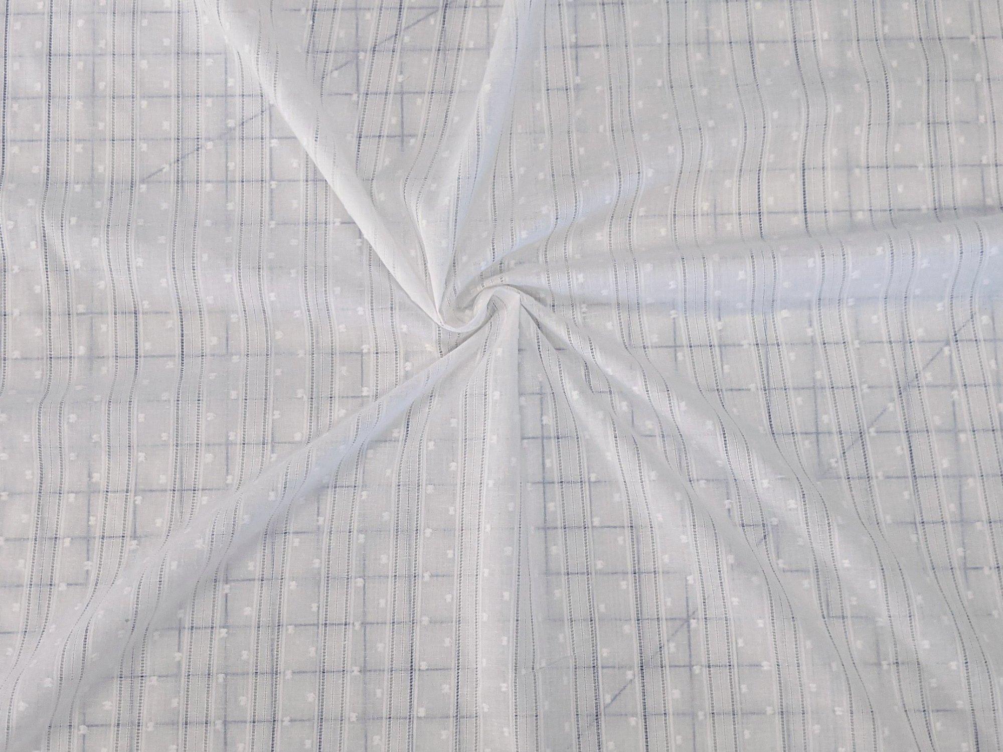 Cotton - White Stripes