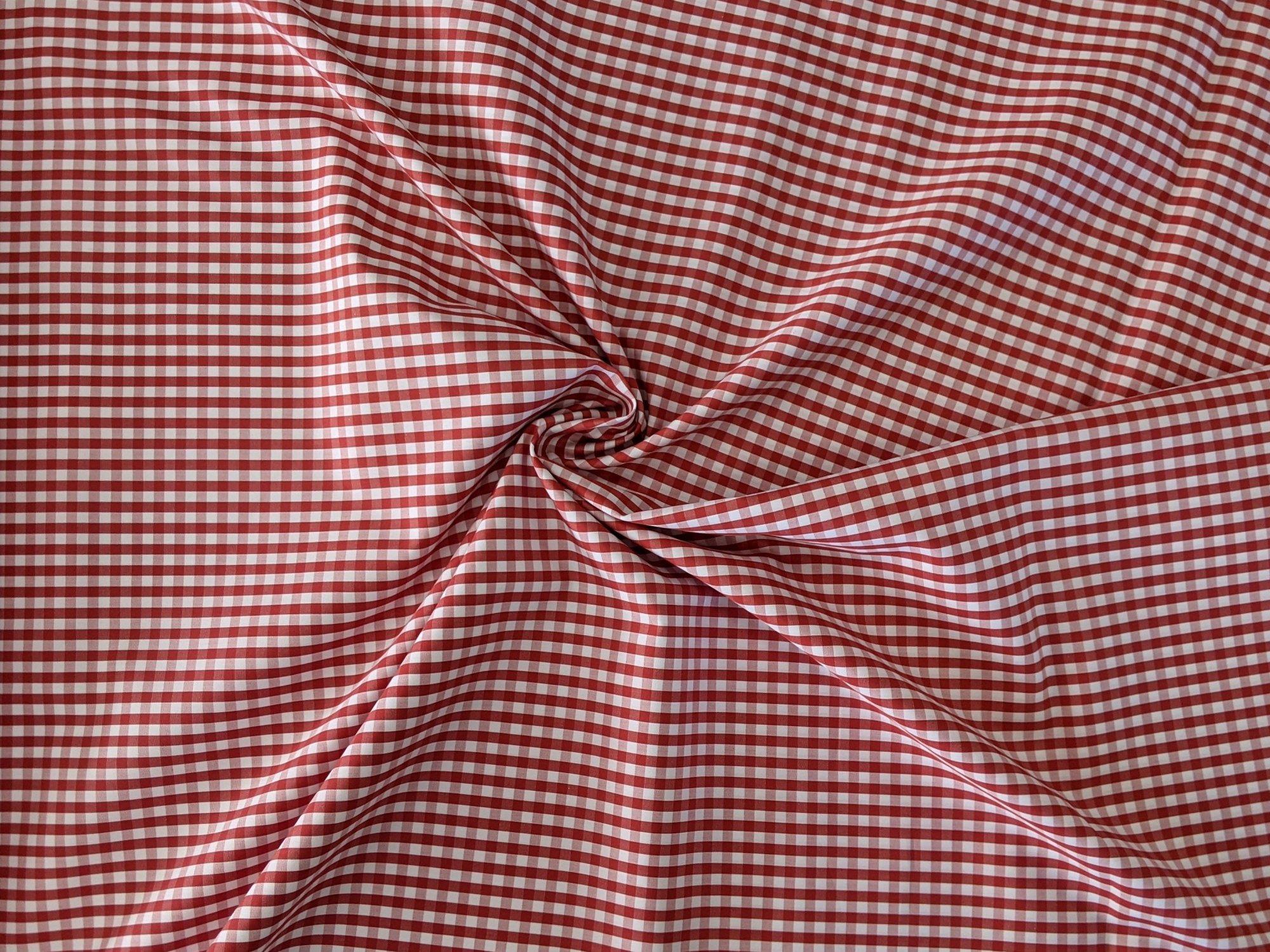 Cotton Shirting - Red/White