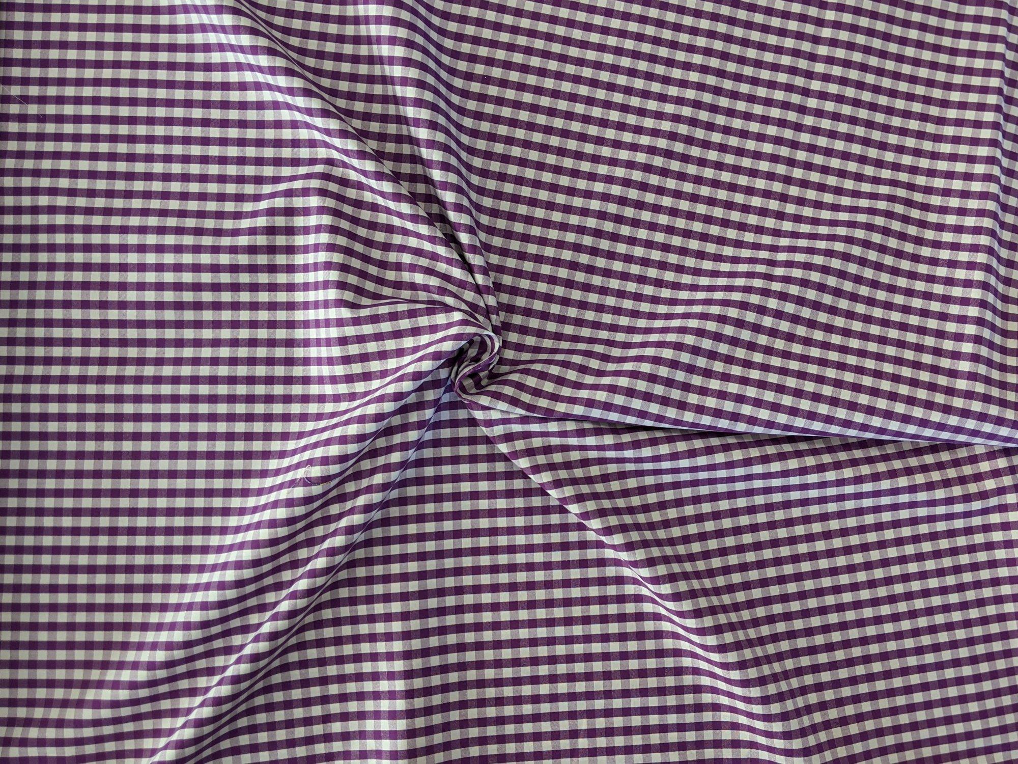 Cotton Shirting - Purple/White