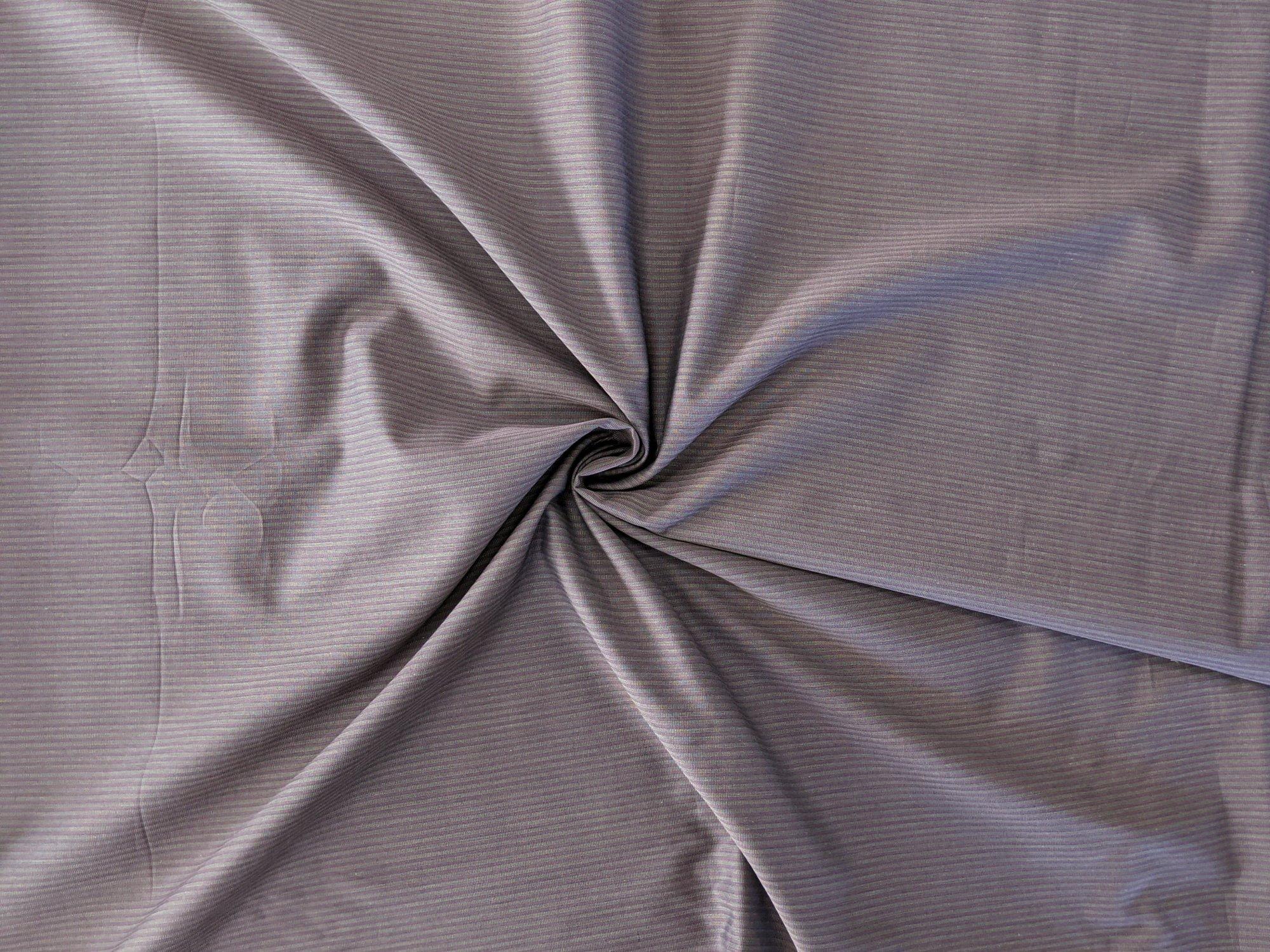 Italian Cotton Shirting - Burgundy Stripe