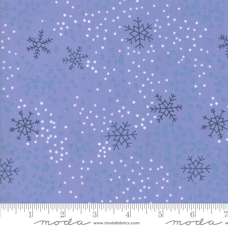 Chill Snowflakes - Steel Blue