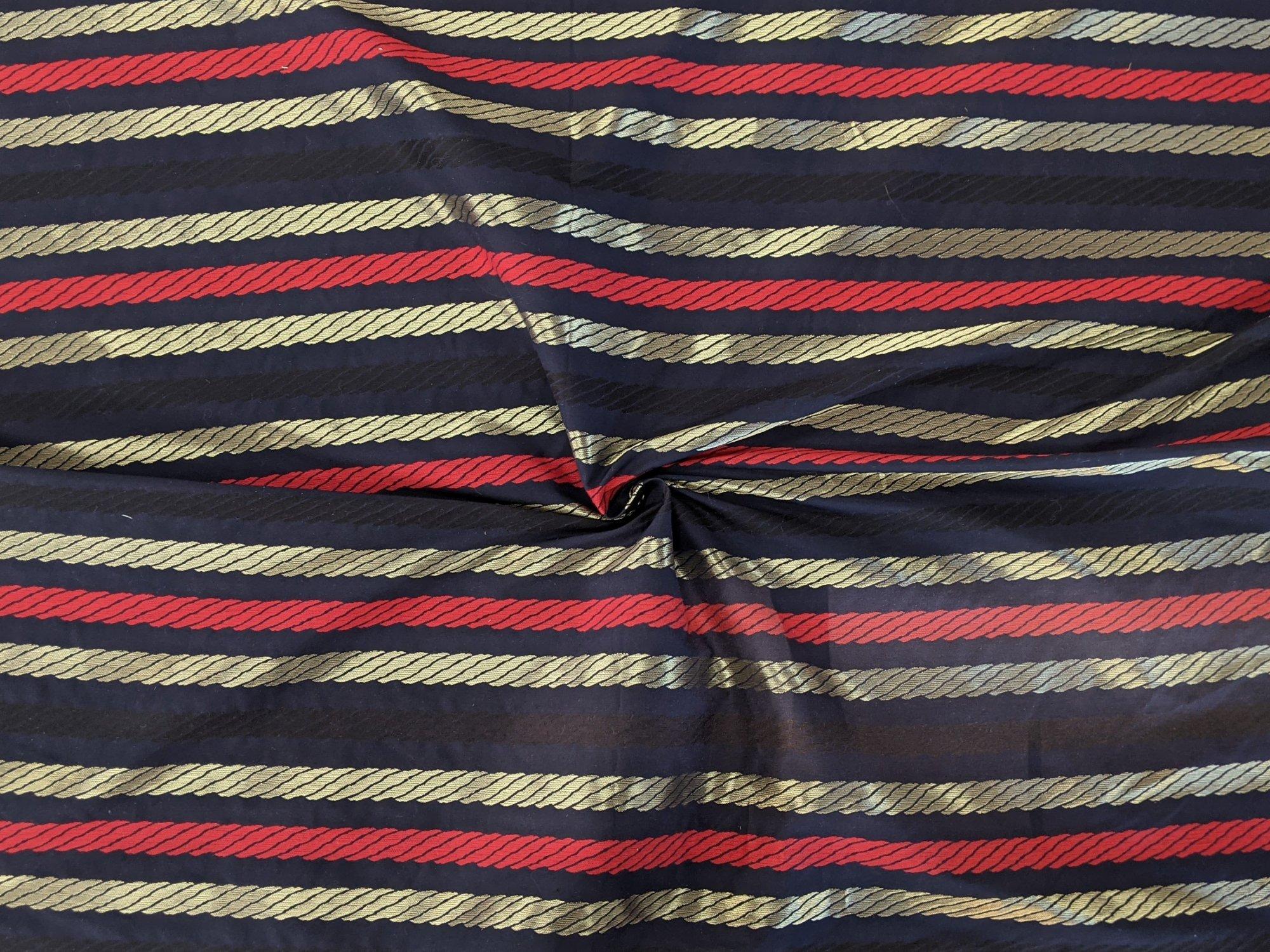 Cotton - Dark Blue w/ Stripes