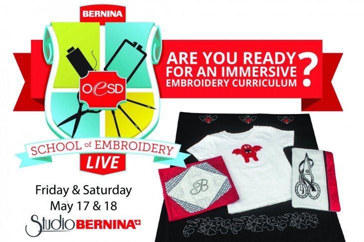 Learn to Embroidery and Sew at the OESD school of embroidery