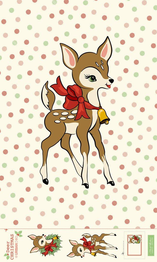 Deer Christmas Panel
