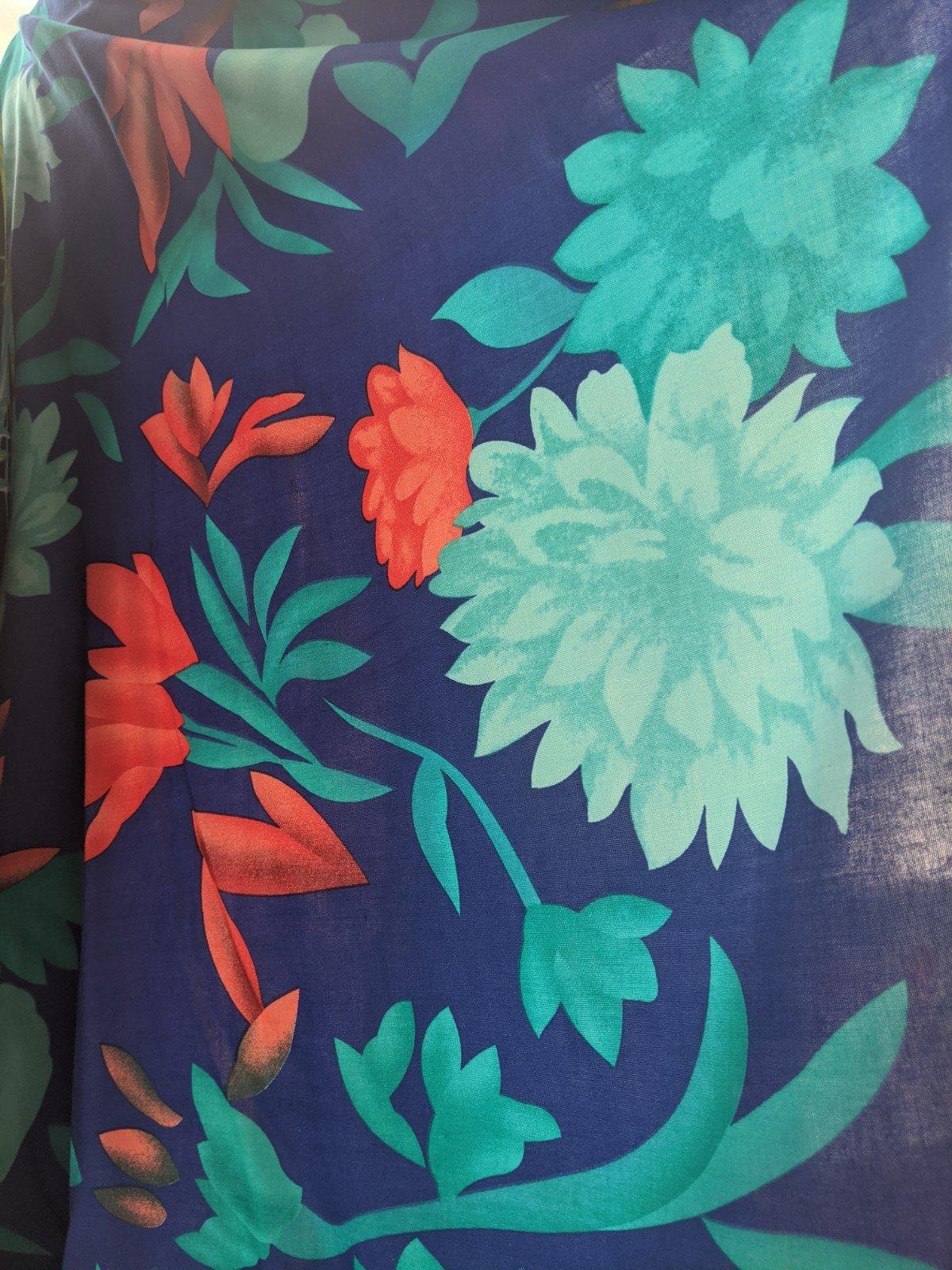 Rayon Challis Floral