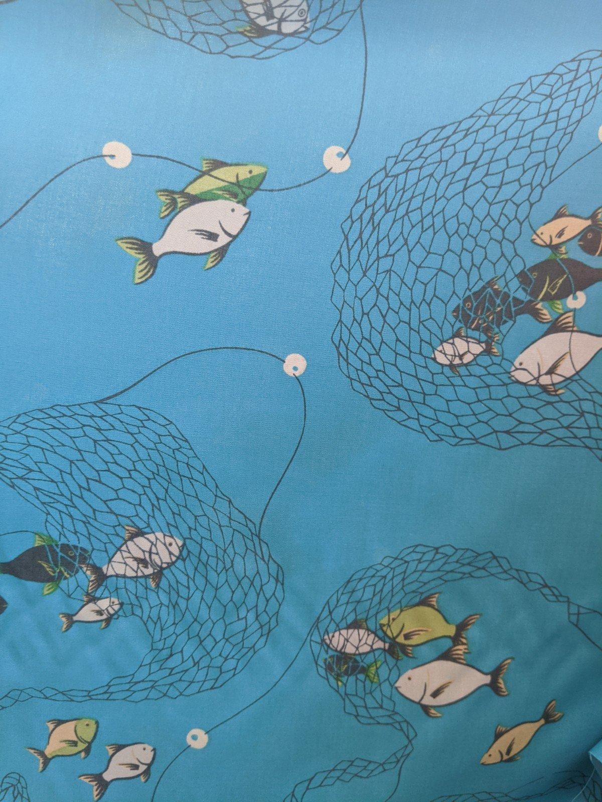 Rayon Challis Fish & Nets