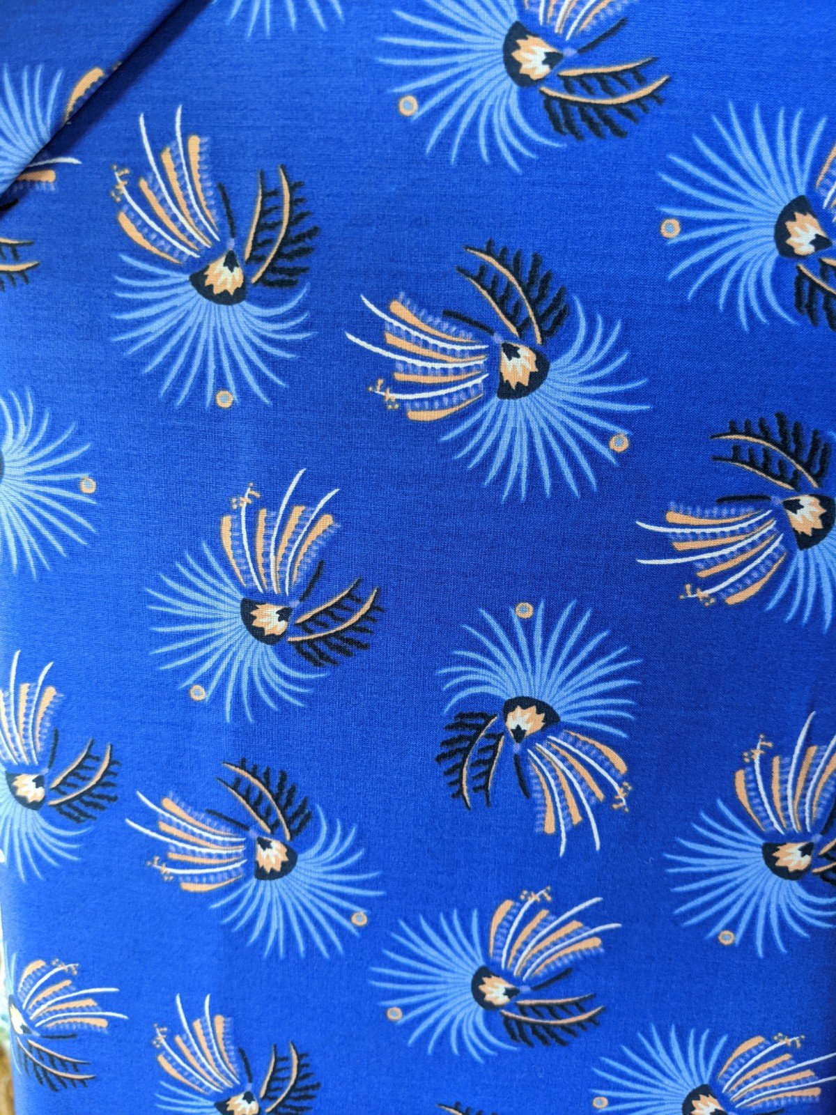 Liberty of London Cotton Lawn - Blue Dandelion