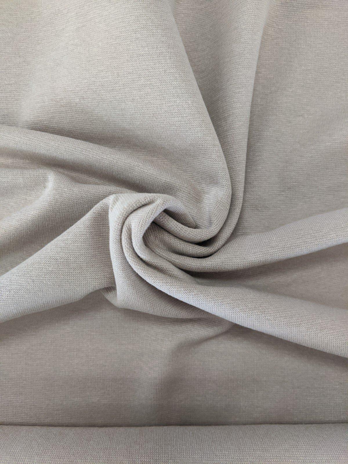 100% Cotton Interlock Knit - Beige