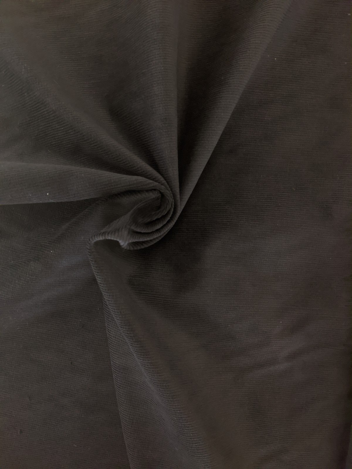 Stretch Corduroy - Black