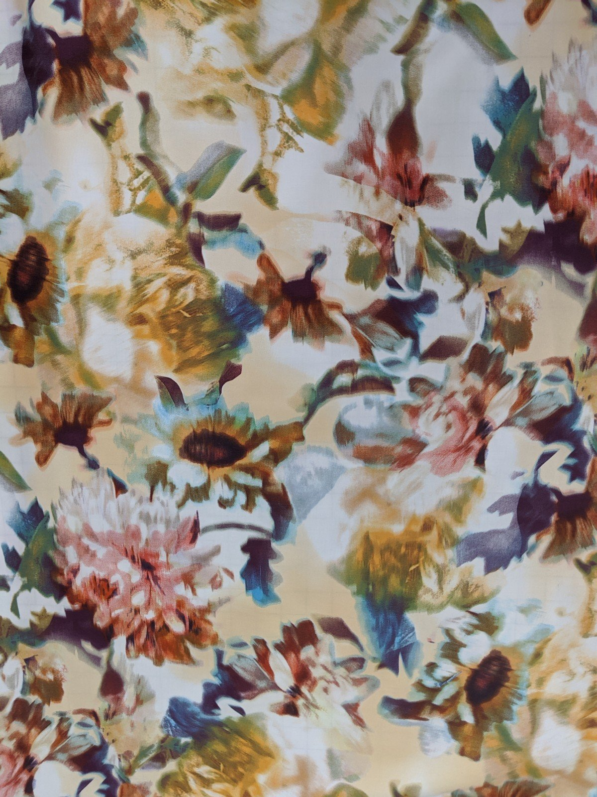 Cotton Lycra - Floral Watercolor