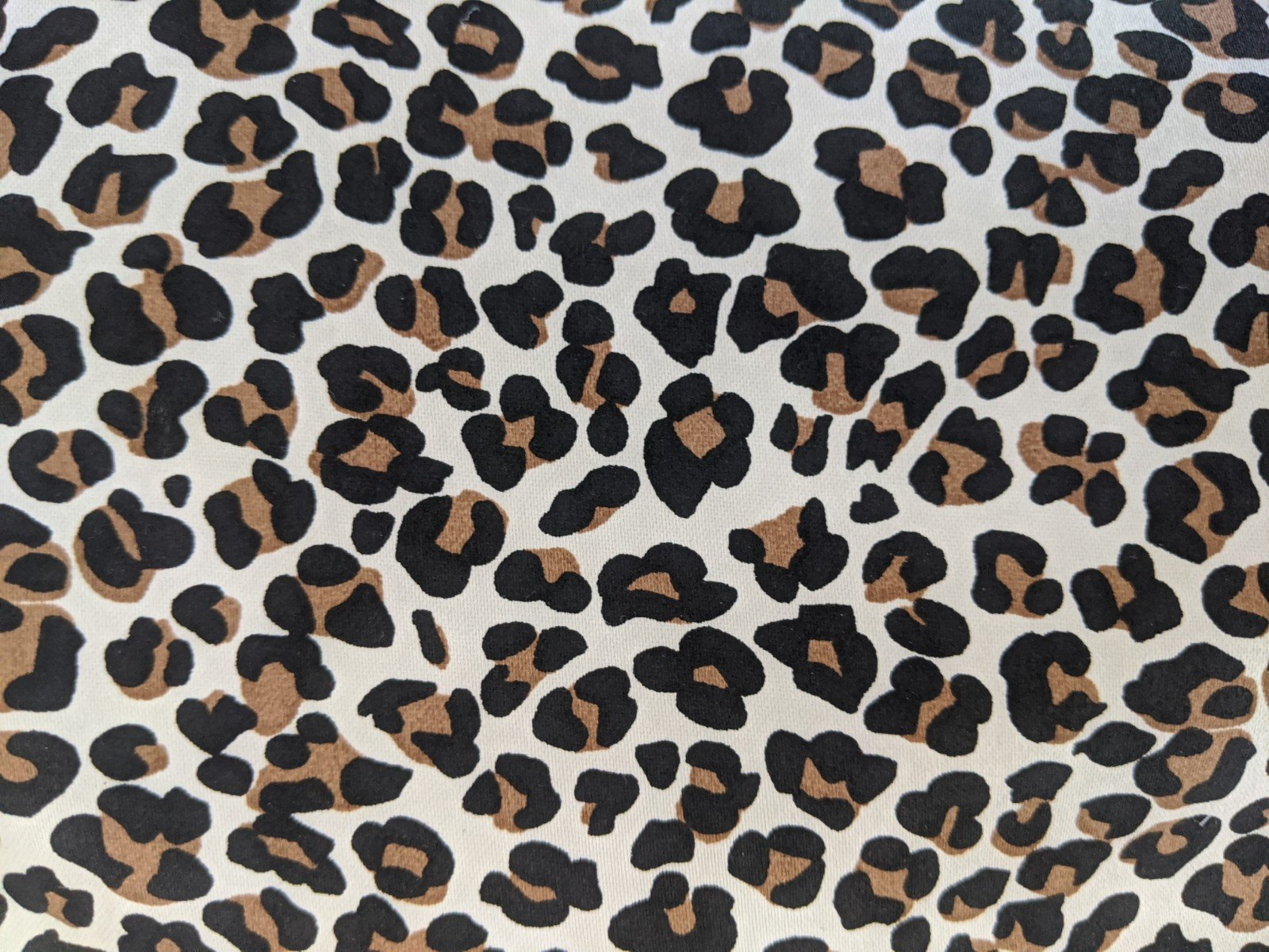 Leopard Print Stretch Sateen Cotton Lycra
