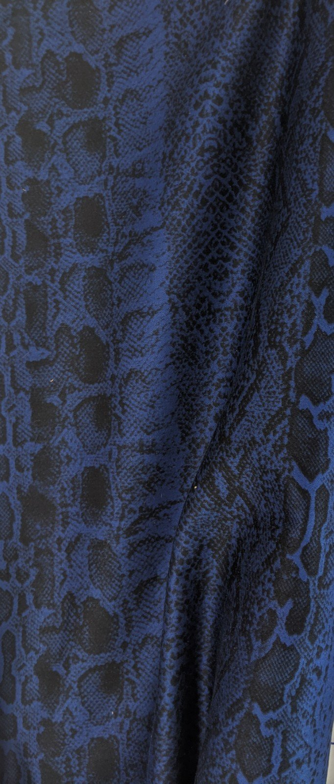 Stretch Cotton Blue Snakeskin