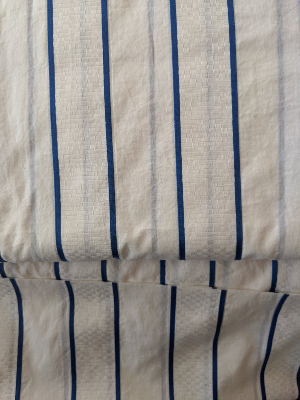 Cotton Shirting Blue Stripe