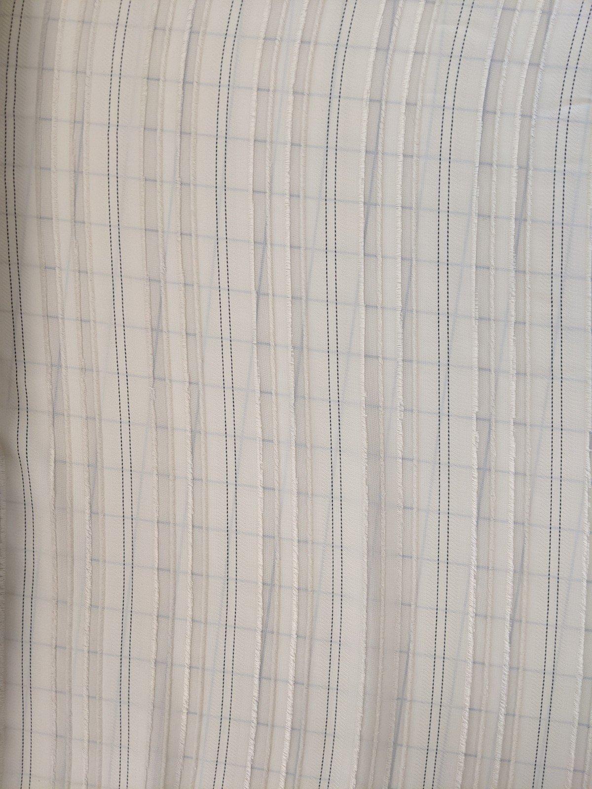Polyester Textured Pinstripe