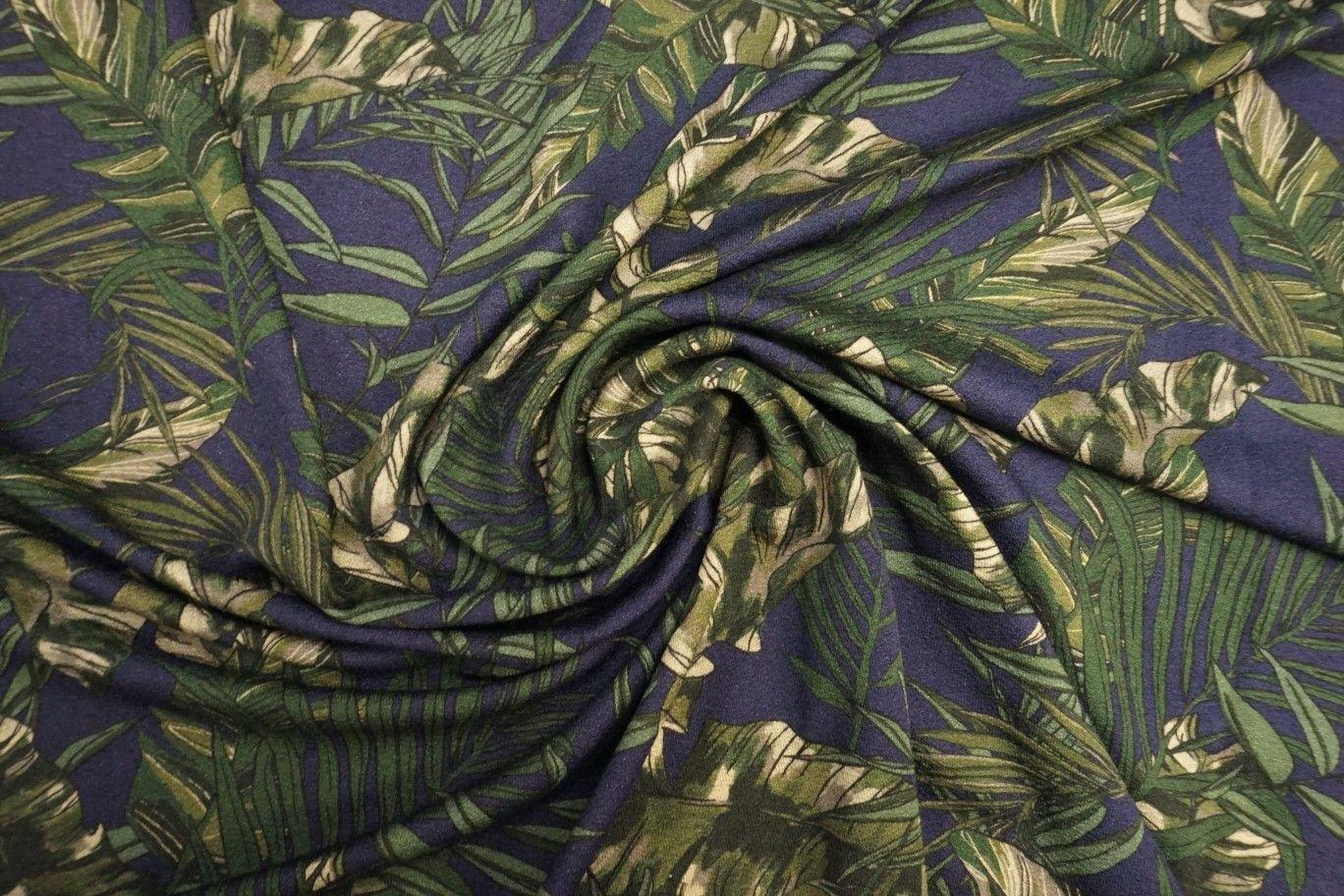 Lady McElroy Viscose Crepe Jersey - Saniago Leaf