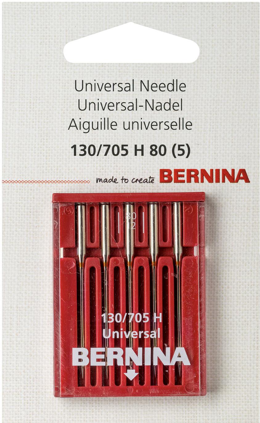 BERNINA Universal Needles Sz80 5pk